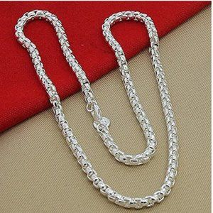 UNISEX 925 STERLING SILVER CHAIN LINK NECKLACE